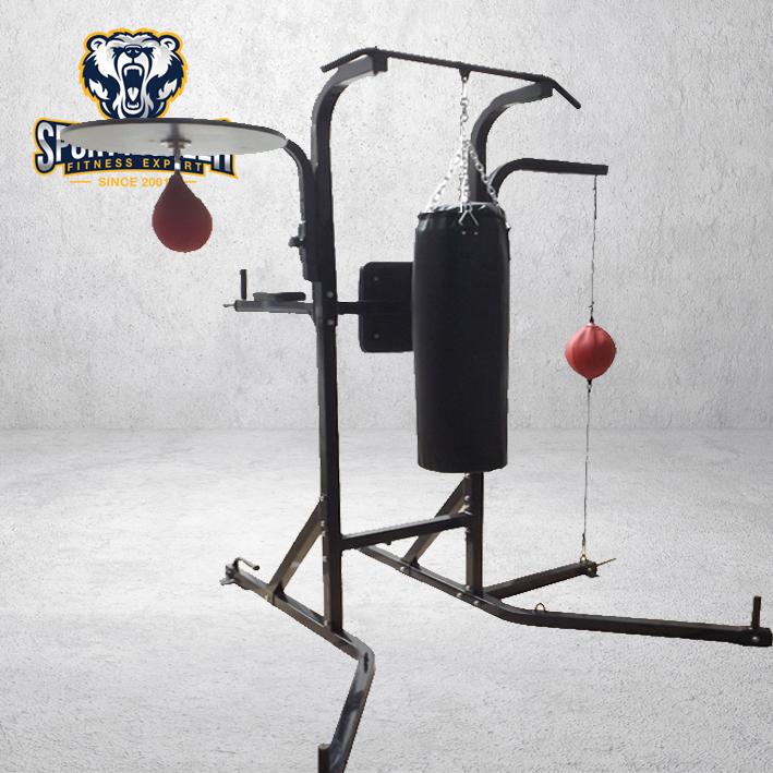 7 Station Workout Gym Boxing Stand Speed Bag Platform