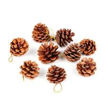 Pekná vánoční ozdoba ve tvaru šišky – 9 ks