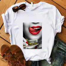 Забавная футболка Money And Women, летняя черная футболка для девушек, хлопковые Супермягкие повседневные белые хипстерские футболки 90s(Китай)