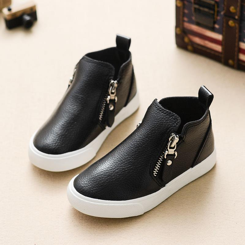 Brand new kids shoes boys girls shoes fashion high top leather shoes girls comfortable casaul leather