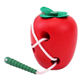 Kids Toy Unique Apple big eat insects Material wooden toy Kids educational toys for children Gift