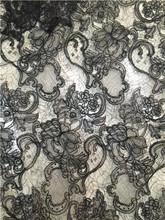 1 ярд, изысканная кружевная ткань с кружочками, теплая белая, красная, черная Цветочная Emrboidery ткань для свадебного платья, кружевные колпачк...(Китай)