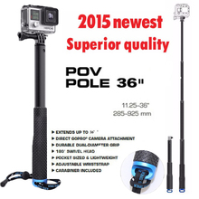 2015 new selfie monopod stick bluetooth mount adapter for gopro hero3 3+ 4 HD xiaomiyi sj 4000 5000 6000 7000 camera accessories
