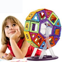 62Pcs lot Toys Hobbies Models Building Toy Learning Educational Toys For Children Magnetic Blocks Bricks Plastic