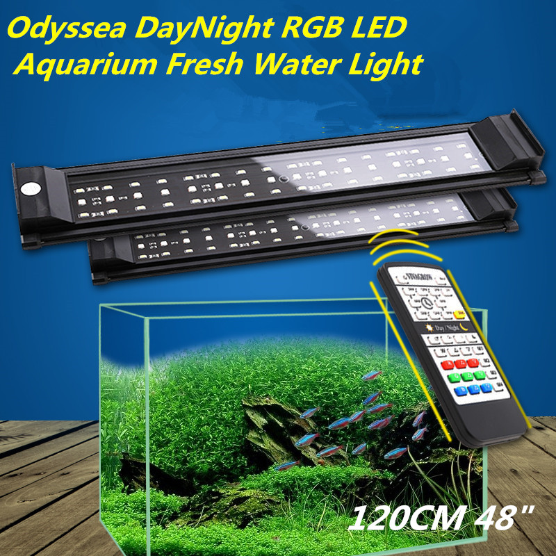 "Solarmax 20 T5 Aquarium Tank Strip Light Fixture 120: DayNight 120cm48"" RGB LED Aquarium Light Freshwater Plant"