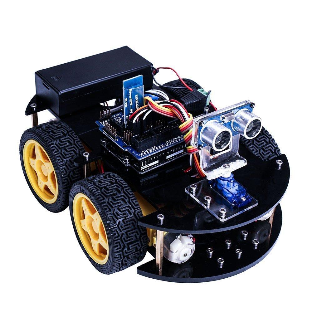 uno projet intelligent robot voiture kit avec uno r3 capteur ultrasons bluetooth module ect. Black Bedroom Furniture Sets. Home Design Ideas