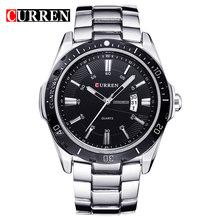 Часы мужские, Роскошные, брендовые, кварцевые, спортивные, армейские, полностью стальные, наручные, погружные, 30 м, повседневные часы(Китай)