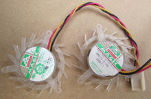 MGT5012XR-A10 12V 0.19A 3 wires  small worm gear graphics card fan pitch 39mm diameter 44mm