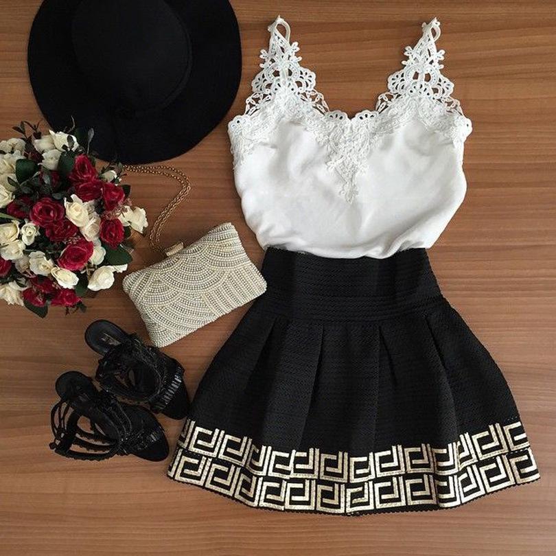 d6bba9d500 Compre Atacado 2016 Nova Moda Vestidos Mulheres Summer Dress Vestido De  Festa Moda Casual O Neck Mangas Lace Dress A Linha Brasil Trend De  Huoxiang