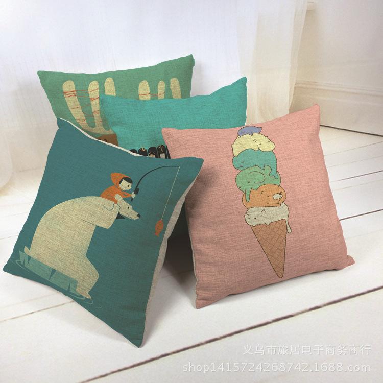 Modern Cute Decorative Throw Pillow Case Home Decor Cushion Cover Pillowcase Car Kussens Chair Cuscini Almofadas Para Sofa Cojin