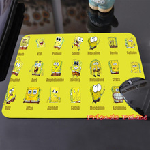 2015 Hot Sales SpongeBob Squrepant Drugs Customized Mouse Pad Computer Notebook Laptop Equipment Decor and Gaming Mouse Mat