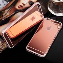 Fashion Lady Phone Accessories Luxury PC Electroplate Mirror Soft TPU Case For Iphone 6 6S 4.7inch Clear Silicone Cover Fundas