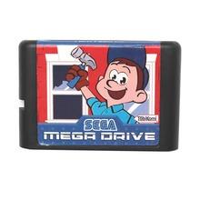 Sega MD game card – Fix It Felix Jr for 16 bit Sega MD game Cartridge Megadrive Genesis system