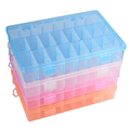 Adjustable 24 Grids Detachable Electronic Components Storage Assortment Plastic Storage Case Rings Jewelry Display Organizer