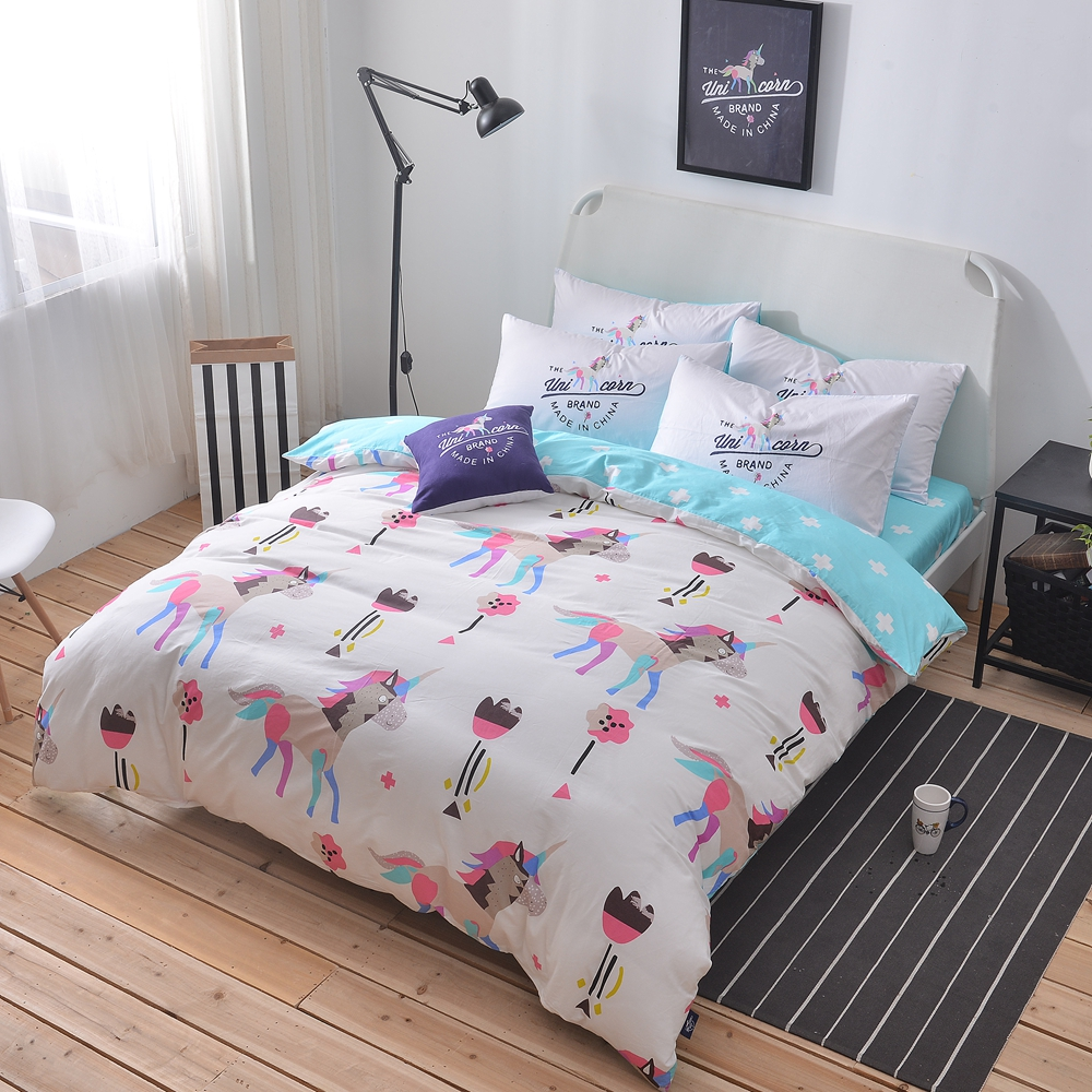 Online Get Cheap Unicorn Bedding Set Aliexpress Com