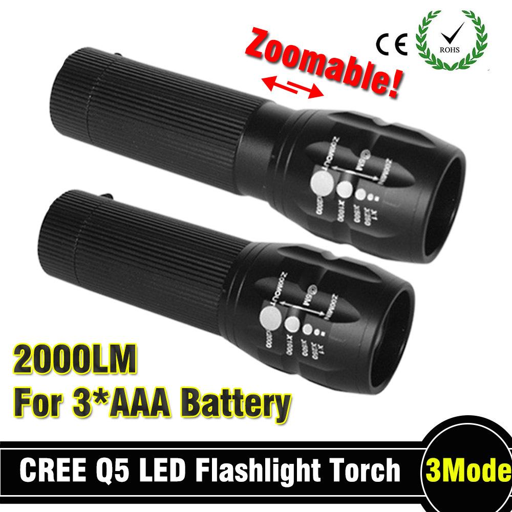 92% Off Powerful Flashlight Lanterna Led Torch 2000 Lumen Zoomable Mini LED