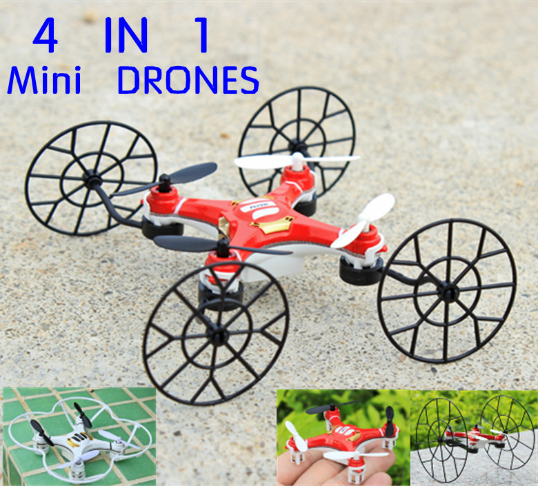 New Arrival 3D Flying Nano Rc Toys Design 4 In 1 Mini Drones 2.4G 4CH 6AXIS RC