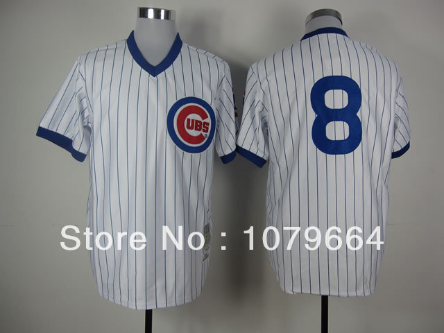 low priced 1466b 8b663 chicago cubs 8 dawson gray throwback jersey