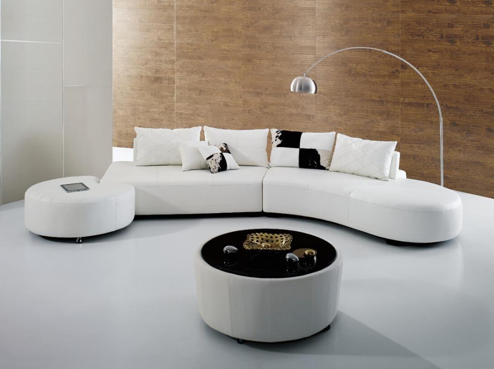 moderne blanc l gant couleur demi lune canap demi. Black Bedroom Furniture Sets. Home Design Ideas