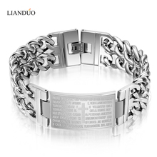Fashion  men bracelets + bangles + 26% with cross design jewelry