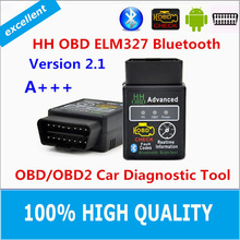 Hot!!! 2015 Best Quality Hot Auto Car ELM327 HH Bluetooth OBD 2 OBD II Diagnostic Scan Tool elm 327 Scanner free shipping
