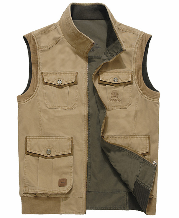 Hot Sale Men Vest Casual Military Waistcoat 100% Cotton ...