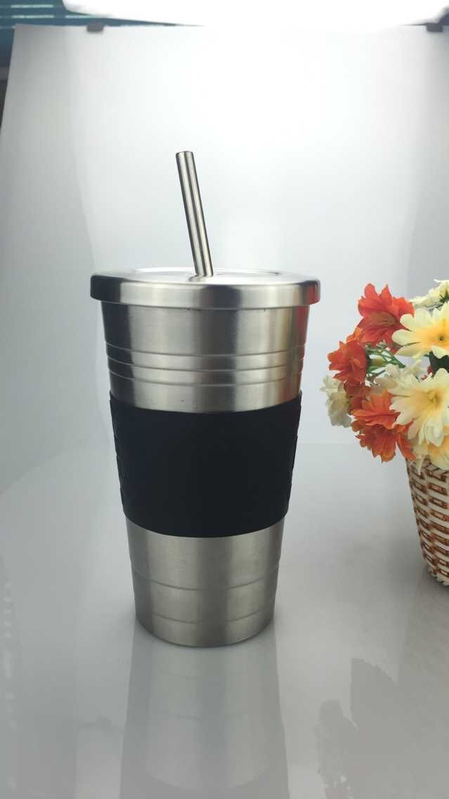 16oz-Stainless-Steel-Insulated-Tumbler-with-Straw-STAINLESS-STEEL-COLD-CUP-SILVER-TUMBLER-WITH ...