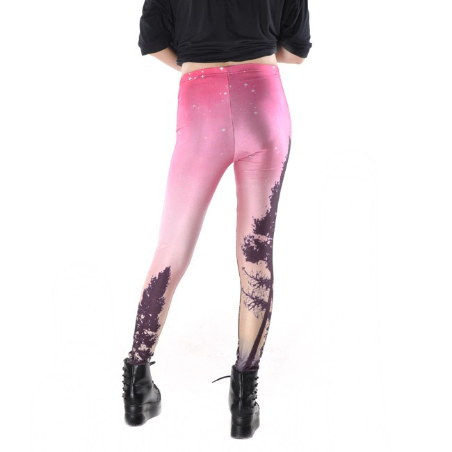Women Colorful Universe Leggings Galaxy Space Print Leggings Pants Elasticity Fashion Quickly Drying Capris