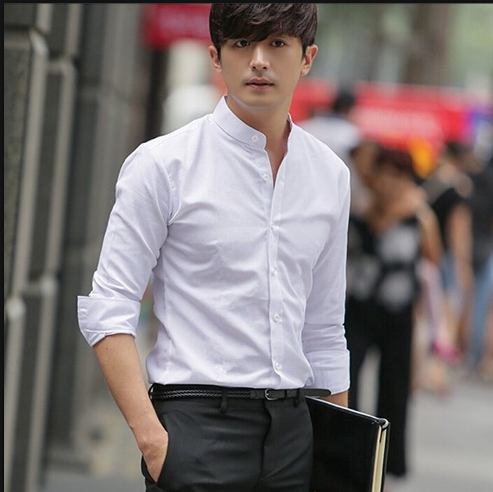 Another collar that spent its early day in sport, the button-down collar was first attached to Oxford cloth button-down shirts. Today, the button-down style can even be worn with casual suiting. 6.