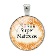 TAFREE DIY Подвески Супер Maitresse стеклянный купол на брелок ожерелье аксессуары ювелирные изделия для подарка на День учителя женский кулон H123(Китай)