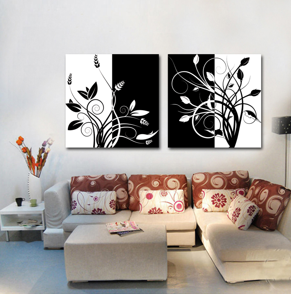 Simple Home Decoration Painting Flowers Leaves Design Art Pictures For Living Room Canvas Wall Art Picture For Friends Simple Home Decor Olivia Decor Decor For Your Home And Office
