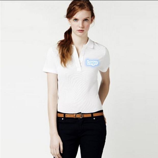 Женщины в лето Polo марка одежда рубашка девочки топы сплошной короткий рукав Polo рубашки
