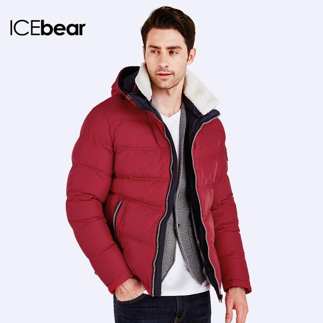 93e1481c18c ICEbear 2016 Зимняя Куртка Мужчины Пуховик мужской зимний качественный Куртка  мужская зимняя короткая фасон модный удобный