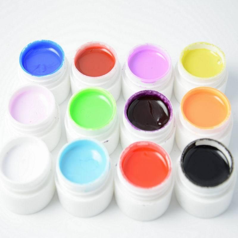 12 pcs colors pure colour uv gel uv gel set builder gel for nail varnish art tools in nail gel. Black Bedroom Furniture Sets. Home Design Ideas