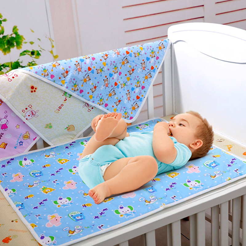 70 50CM Baby Cartoon Ecological Cotton Travel Home Waterproof Urine Matelas Infant Cover Bedding Nappy Burp