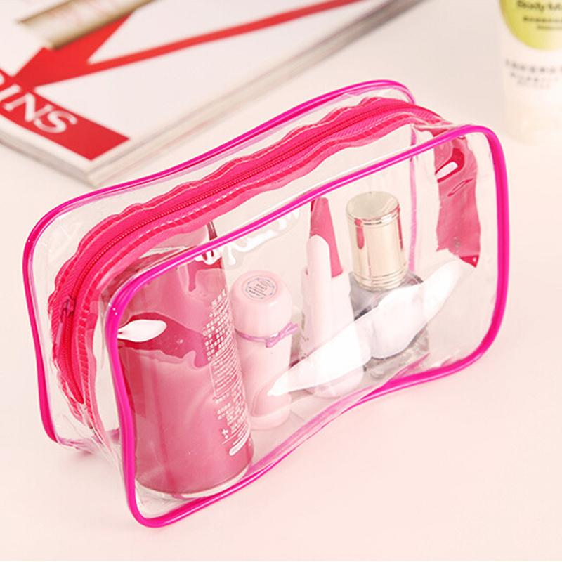 f255c815517 2019 Wholesale New Clear Transparent Plastic PVC Bags Travel Makeup ...