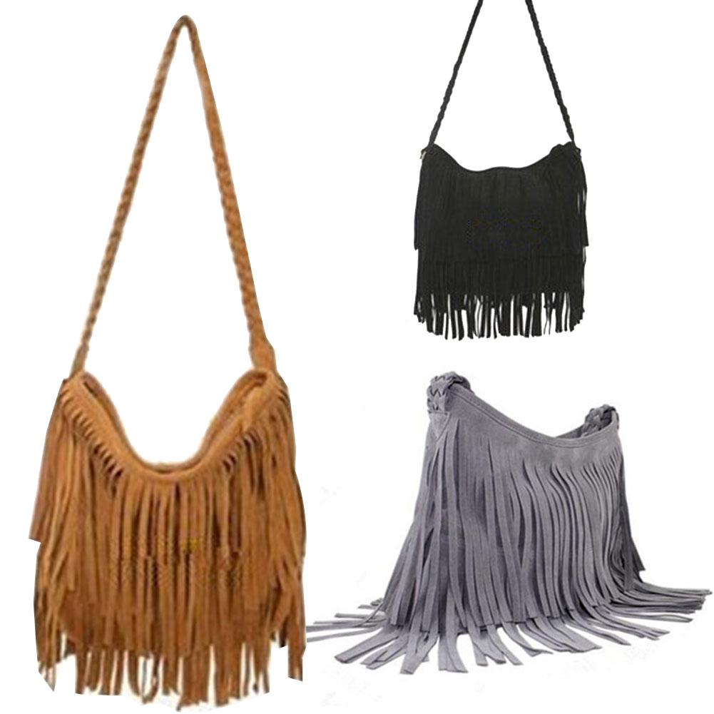 Wholesale Fashion Women S Suede Weave Tassel Shoulder Bag Messenger ... 7be8959e9f