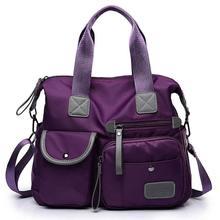 Многофункциональная нейлоновая сумка для багажа, женская сумка на плечо, модная большая женская сумка-тоут, Женская дорожная сумка-трапеци...(Китай)