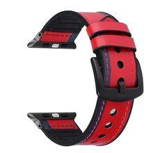Кожаный силиконовый ремешок для часов apple, 44 мм, серия 4 3 2 1, ремешок для iwatch 38 мм 42 мм, браслет, аксессуары, замена запястья(Китай)
