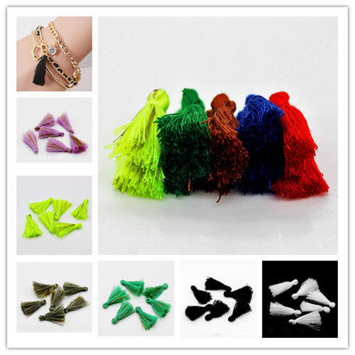 120PCS 25mm Handmade Silky Tassels Decoration Pendant High quality auxiliary material Bohemian national style Multipurpose