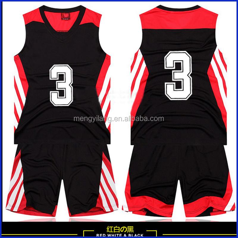 Black red basketball shorts