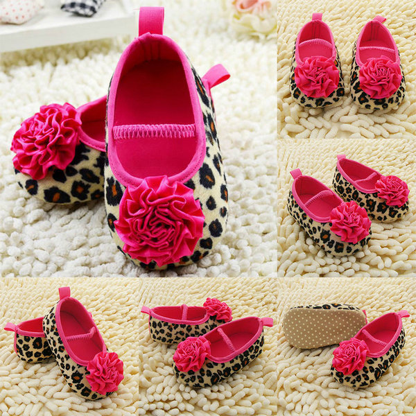 Lowest Price Fashion Newborn Shoes Red Flower Princess soft baby shoes for girl baby shoe 3