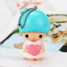 Kawaii мультфильм брелок плюшевая кукла подвеска брелок для девочек сумка Украшение милая плюшевая игрушка мода сплав брелки(Китай)