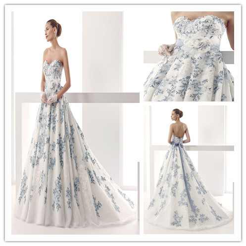 Blue And White Ball Gowns Blue-And-White-Wedding...