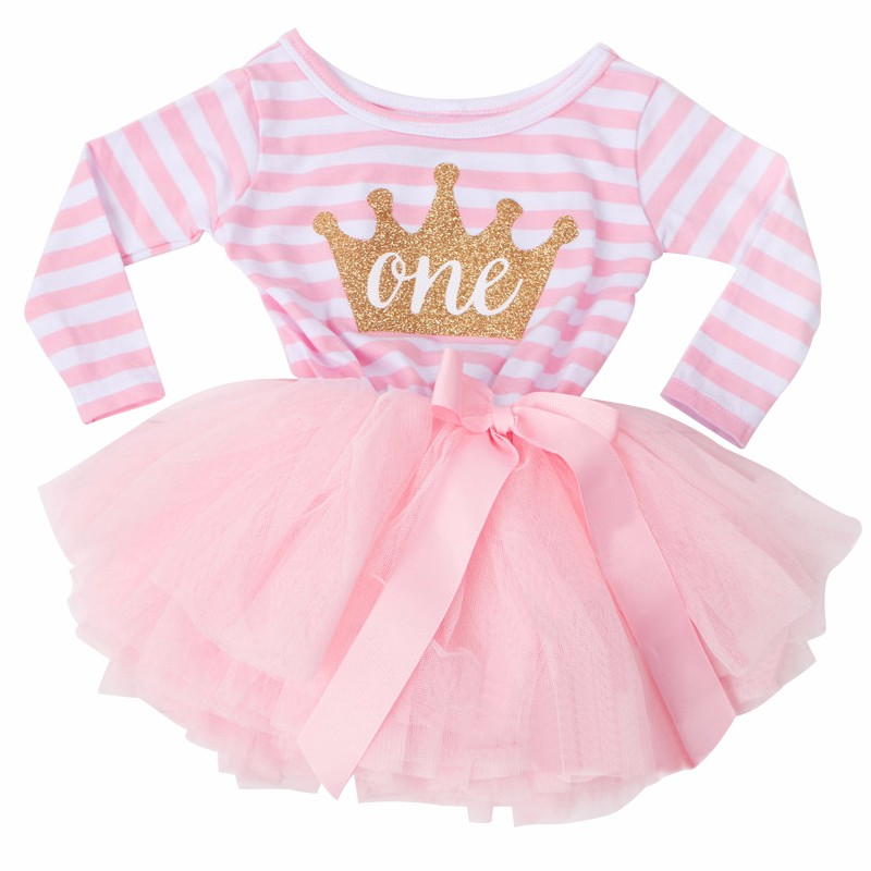 608d563b056d 2019 Autumn Baby Girl 1 2 Years Birthday Outfits For Infant Kids ...