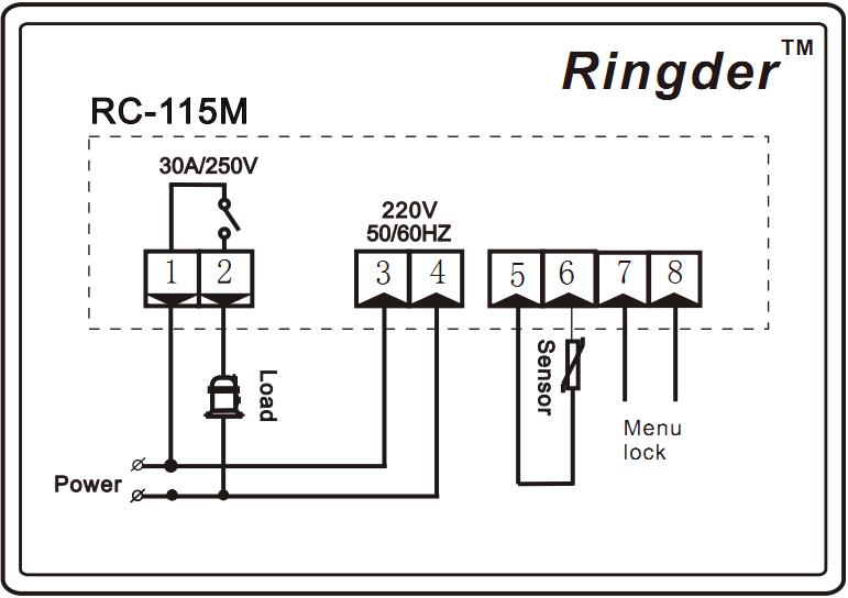 Ringder Rc 115m Digital Boiler Water Heater Temperature