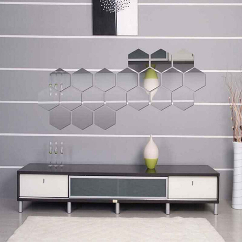 Online Buy Wholesale Hexagon Mirror Tiles From China