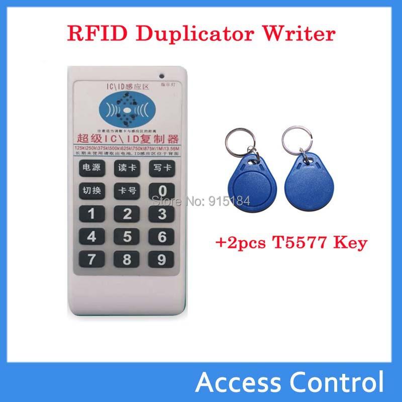 125 кГц - 13.56 мГц rfid-тегов копир дубликатор копирования ID / IC / записи / копир / программник + 2 шт. 125 мГц EM4305 перезаписываемый карты