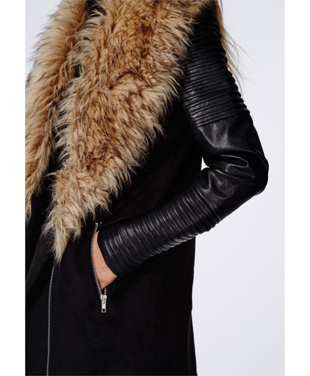 9c844b413f6 2019 Wholesale Plus Size Faux Fur Coat XS 2XL Manteau Fourrure Femme ...