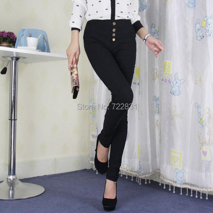 Новые женские брюки мода стрейч капри черный белый хлопок леггинсы кнопка молнии леди свободного покроя карандаш брюки карман тощие брюки